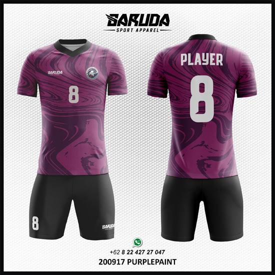 desain baju bola warna ungu