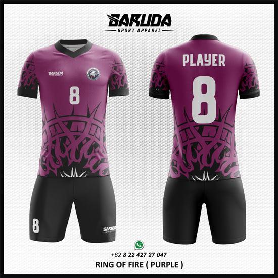 Jasa Pembuatan Desain Kaos Futsal Warna Ungu