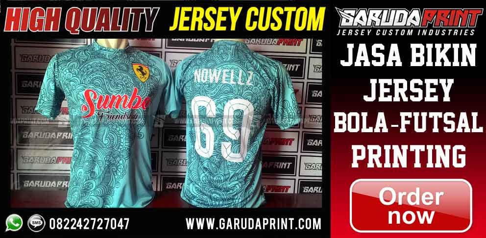 jasa Desain Baju Futsal printing Motif Batik indonesia