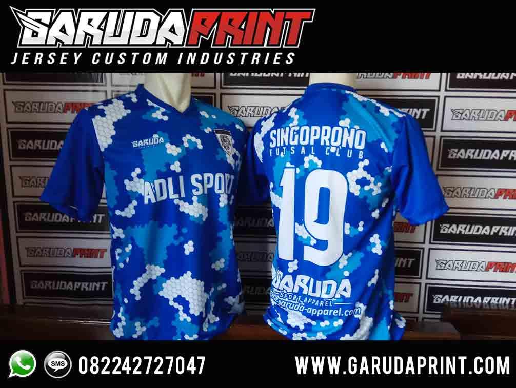 pembuatan Kaos Futsal Depan Belakang Terbaru printing