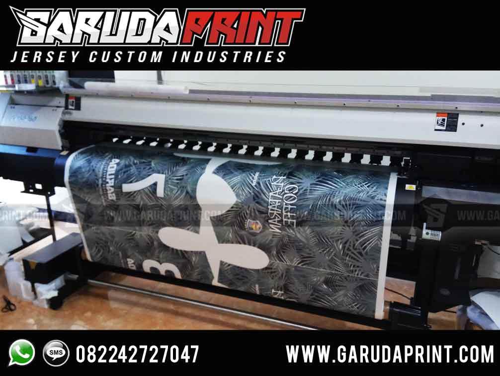 pembuatan Kaos Futsal Hijau Hitam Full Print