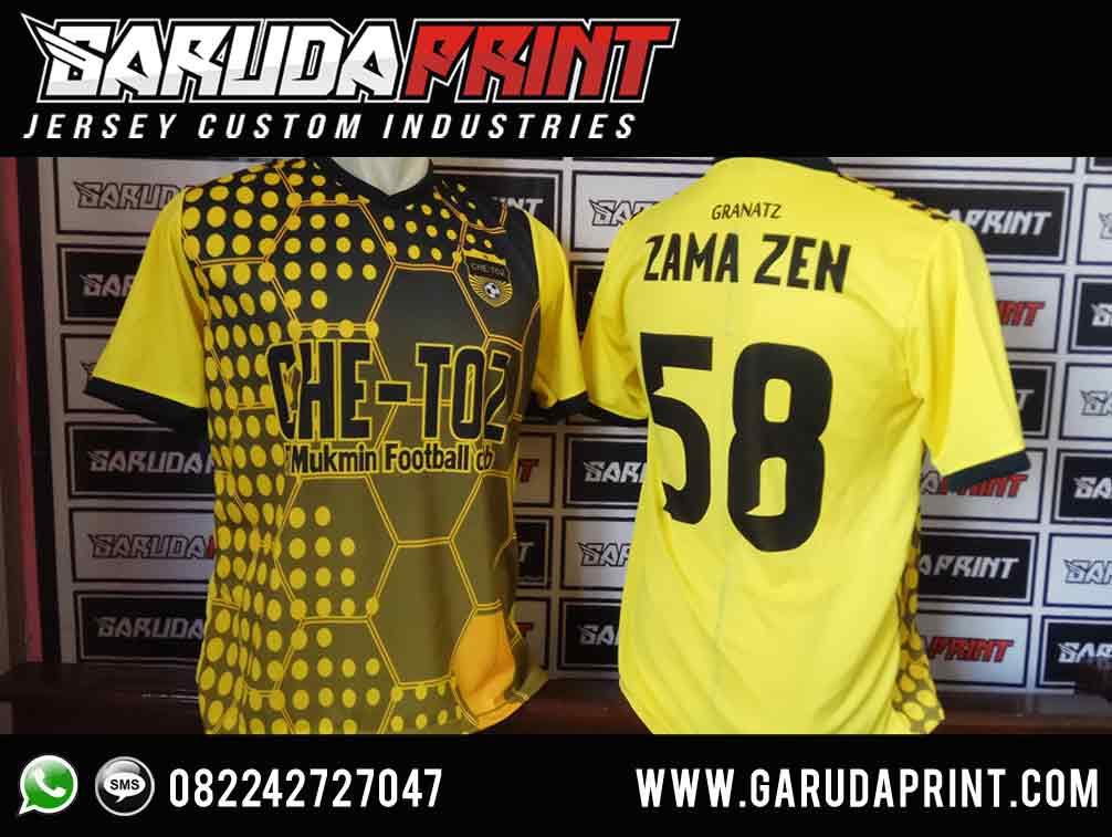 pembuatan jersey kaos bola hitam kuning