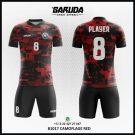 Desain Baju Bola Futsal Printing Camoflage Red