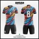 Desain Baju Futsal Printing Colorfull Style