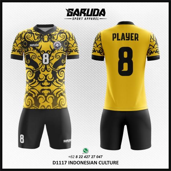 Desain Jersey Bola Futsal Indonesian Culture - Gambar Batik