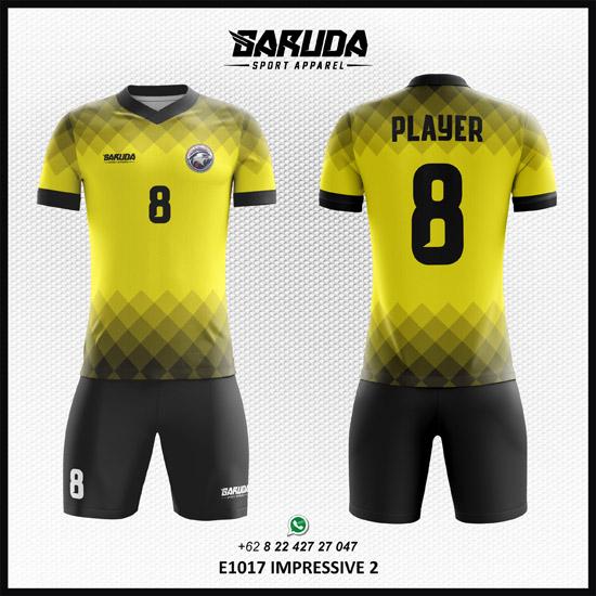 Desain Jersey Futsal Printing Impressive kuning