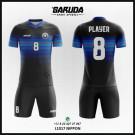 Desain Kaos Futsal Printing Nippon Warna Biru