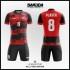 Desain Kostum Bola Futsal Printing Red Natura