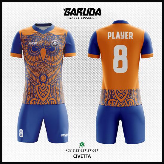 Desain Kostum Futsal Printing - Civetta Gambar Burung Hantu