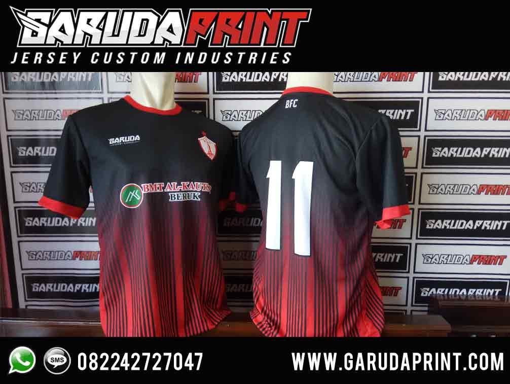 jasa bikin Desain Kaos Futsal Hitam merah
