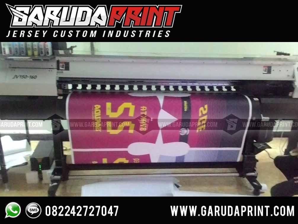 pembuatan Kaos Futsal Merah Hitam printing harga murah