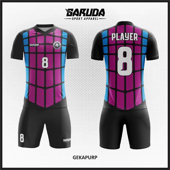 Desain Kaos Futsal Printing Gekapurp warna ungu
