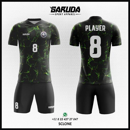 Desain Kostum Futsal Printing Hitam - Sclone