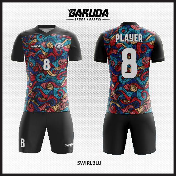 Desain Baju Futsal batik Printing Swirblu
