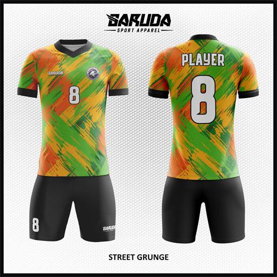Desain Jersey Futsal Bola Printing Street Grunge keren terbaru