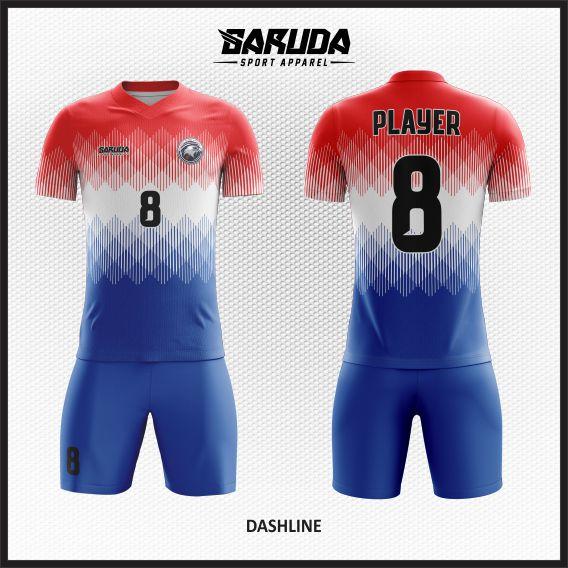 Desain Kostum Seragam Futsal Printing Dashline