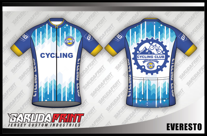 desain baju jersey sepeda keren BIRU