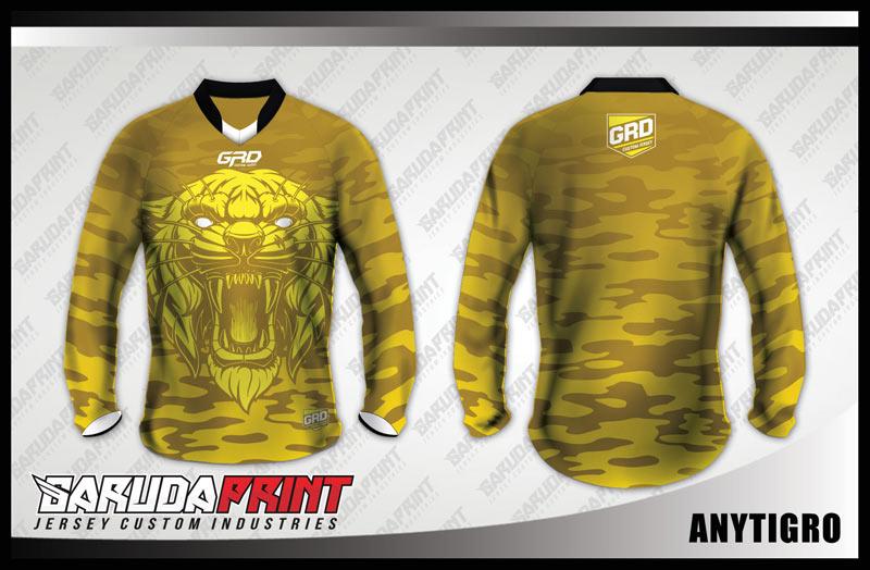 desain baju sepeda downhill keren gambar macan
