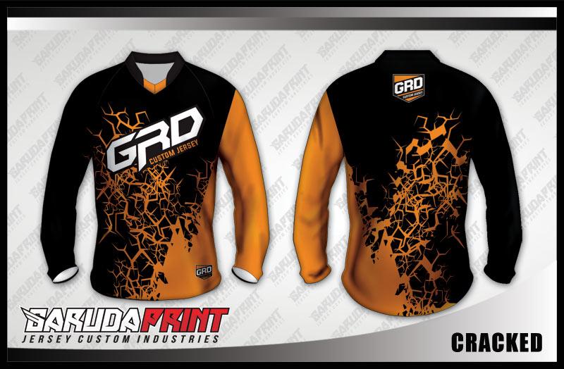 desain baju sepeda downhill orange hitam