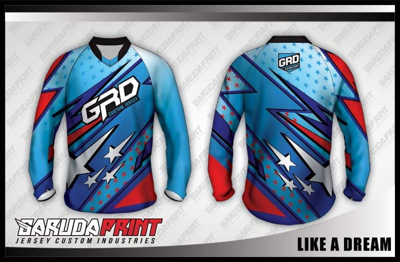 desain jersey sepeda downhill lengan panjang