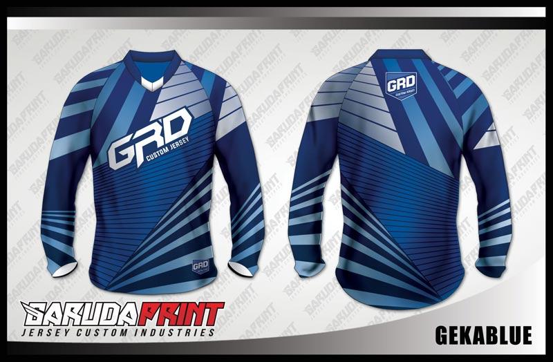 desain kaos sepeda downhill custom biru