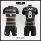 Desain Baju Futsal Printing Colorius-Blek yang Dinamis