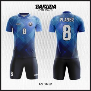 Desain Baju Futsal Printing Pollyblue Model Abstract