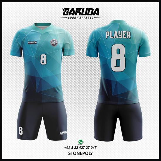 Desain Baju Futsal Printing Stonepoly yang Terbaru