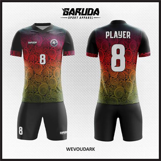 Desain Baju Futsal Printing Wevoedark, Gradasi Unik