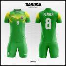 Desain Baju Futsal Terbaru Extrays Gradasi Hijau Kuning