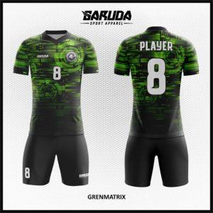 Desain Baju Futsal Terbaru Grenmatrix Hijau Hitam