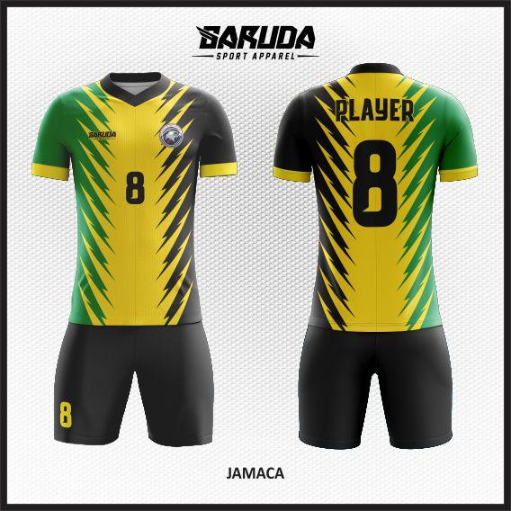 Desain Jersey  Futsal Printing Jamaca untuk Kamu yang Suka Reggae