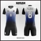 Desain Jersey  Futsal Printing Skueler-Blue Tampilan Keren