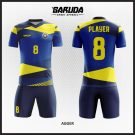 Desain Kaos Futsal Agger Si Kuning Biru