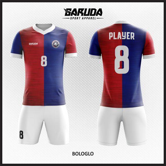 Desain Kaos Futsal Printing Bologlo Si Merah Biru