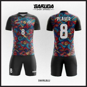 Desain Kaos Futsal Printing Swirblu Motif Ukiran