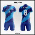 Desain Kaos Futsal Terbaru Crooked Biru Vintage