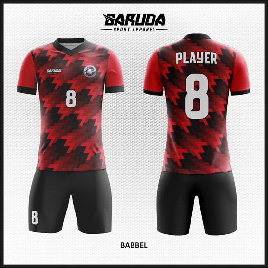 Desain-Kostum-Futsal-Custom-Babbel-merah-hitam