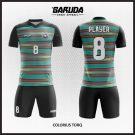 Desain Kostum Futsal Printing Colorius-Torq Motif Stripe