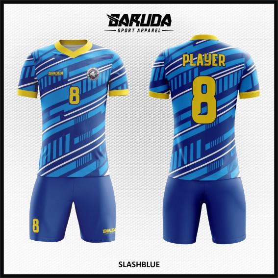 Desain Kostum Futsal Terbaru Slashblue Tampil Keren