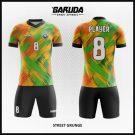 Desain Kaos Futsal Printing Street Grunge Kombinasi Warna Unik