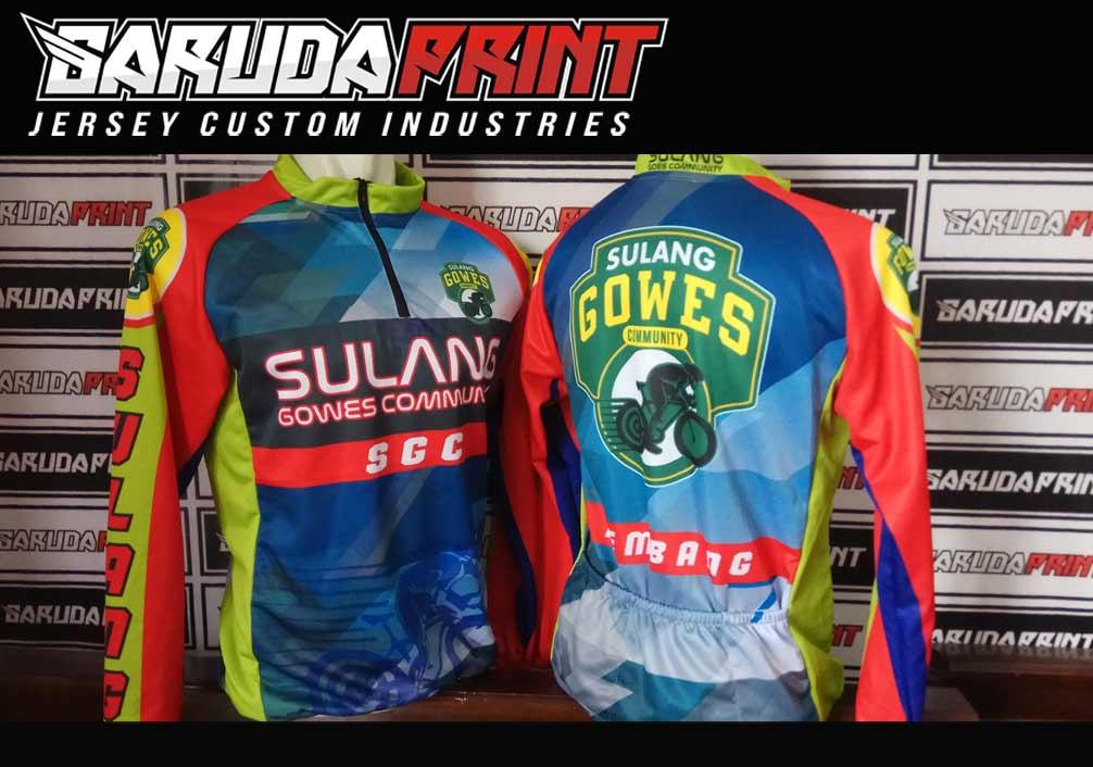 buat baju jersey printing untuk jenis sepeda Balap Road Bike Gowes
