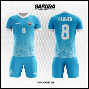 Desain Baju Bola Futsal Kode Turqouistyle