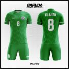Desain Jersey Bola Futsal Hijau Code Bakayoko