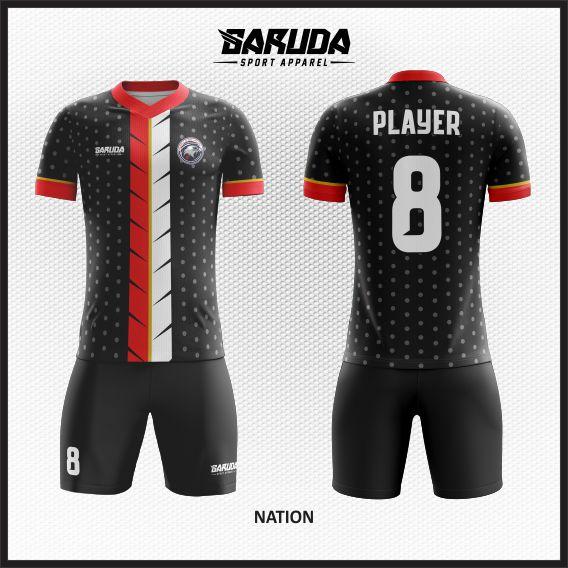Desain Kaos Bola Futsal Code Nation Tampil Gahar