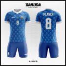 Desain Kaos Sepakbola Futsal Blussion Warna Biru Tampil Beda