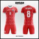 Desain Kostum Futsal Kode Red-Triangle Super Keren