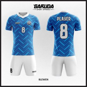 Desain Kaos Futsal Code Blewen Si Biru Menawan