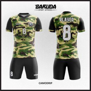 Desain Kaos Futsal Code Camodrip Motif Doreng Army Terbaru