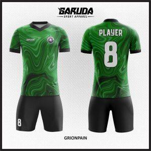 Desain Kostum Futsal Grionpain Si Hijau Unik